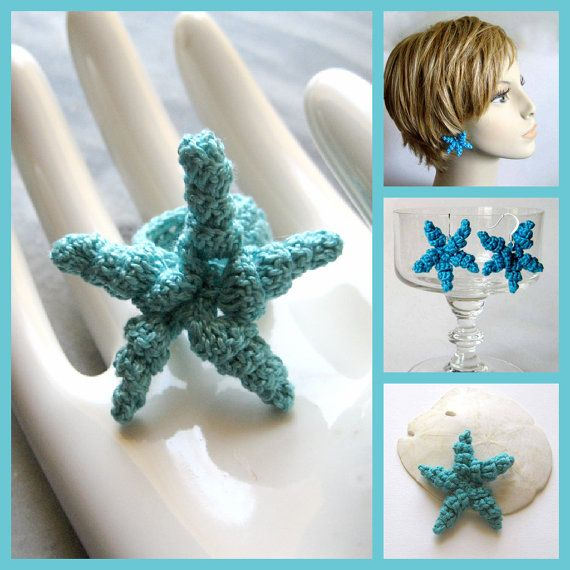Brooch Earrings by KnittingGuru is featured in Etsy MothersDay  Mother's Day Quick Easy Crochet Gift Ideas