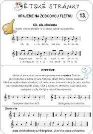 Výsledek obrázku pro noty na flétnu z pohádek