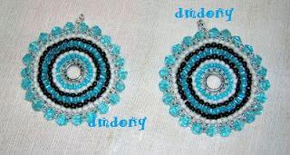 LE CREAZIONI DI DONY: orecchini perline a cerchio