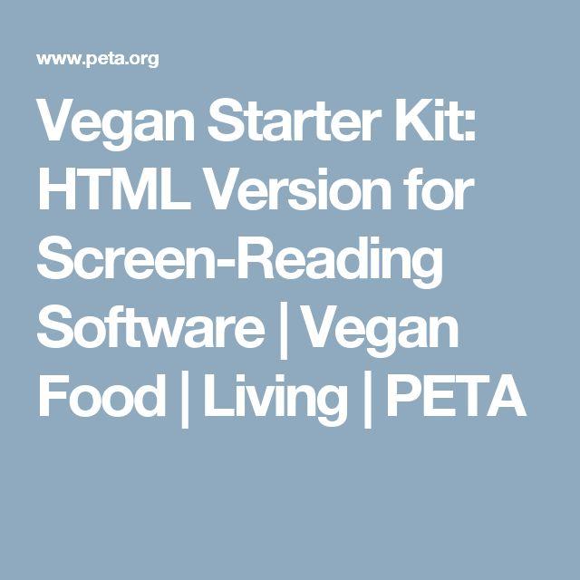 Vegan Starter Kit: HTML Version for Screen-Reading Software | Vegan Food | Living | PETA