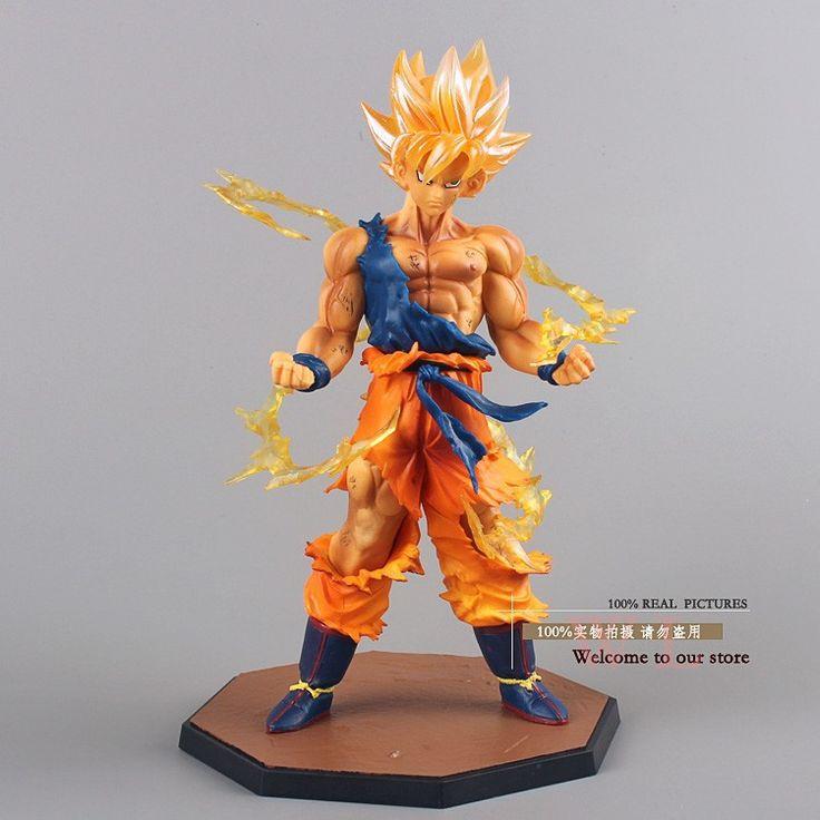 Free Shipping Anime Dragon Ball Z Super Saiyan Son Goku PVC Action Figure Collectible Toy 17CM DBFG071 World of Goku