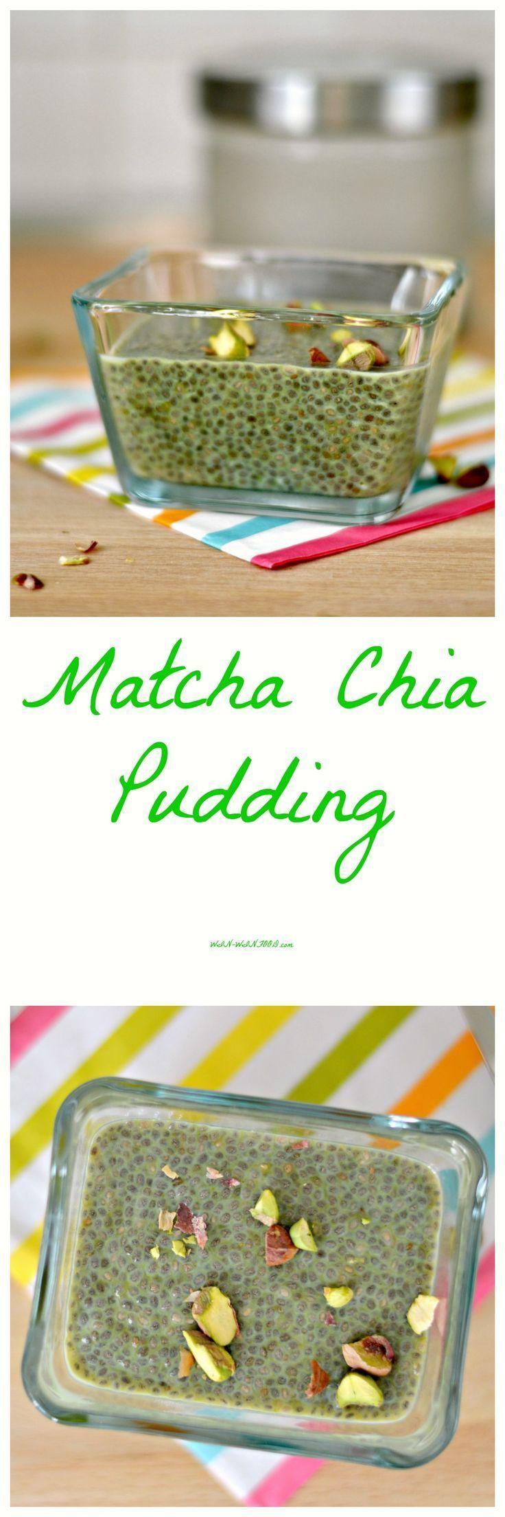 Matcha Chia Pudding   WIN-WINFOOD.com Energy boosting matcha chia pudding is…