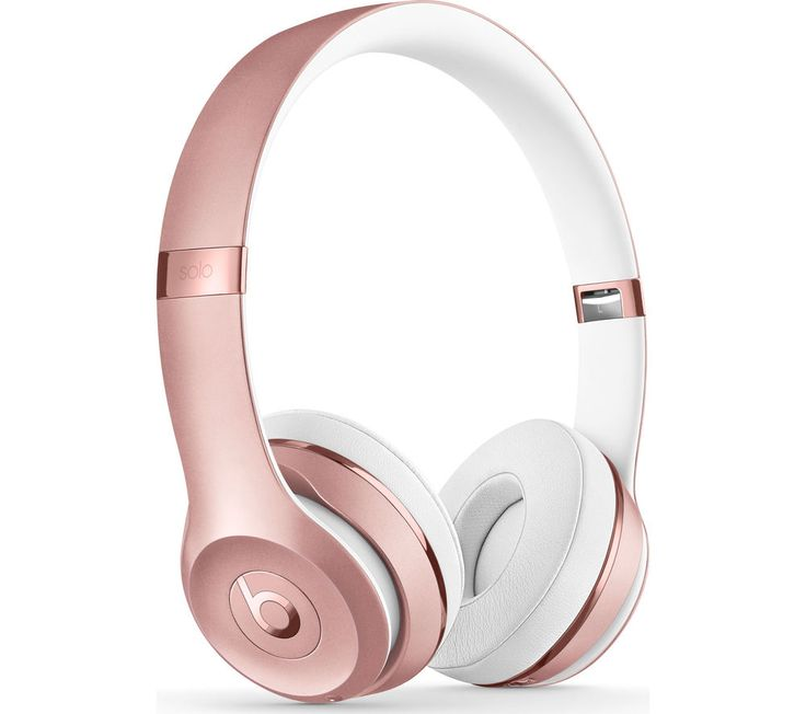BEATS BY DR DRE  Solo 3 Wireless Bluetooth Headphones - Rose Gold, Gold Price: £ 249.95 Top features: - Wirelessly connect to your iPhone, Apple Watch, iPad and Mac - Listen to award-winning Beats sound - Enjoy multi-day use with up to 40 hours of battery life - Adjustable fit with cushioned foldable ear cups - Take calls, control your music and activate Apple Siri with on-ear controls...