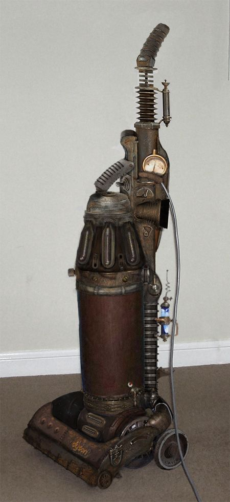 Steampunk Vacuum Cleaner (& other appliances) - Le meilleur du steampunk http://www.gizmodo.fr/2011/09/01/le-meilleur-du-steampunk.html