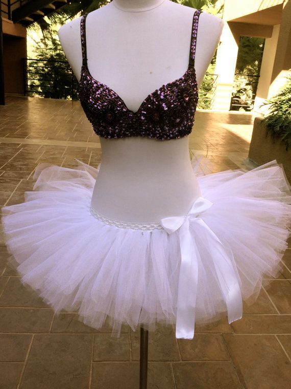 Color Run Tutu White Tutu Marathon Tutu 5K by ShellyRioBoutique, $31.99