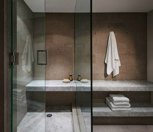 bathroom: Bathroom Design, Wet Rooms, Benches, Inspiration Bathroom, Steven Harry, Beautiful Bathroom, Bathroomdesign, Shower Curtains, Bath Bathroom Ideas