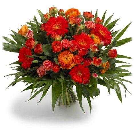 En San Valentín, no falles. Enviar flores a domicilio no puede ser más fácil.  ¡Envía gratis este ramo de rosas y gerberas! MáximaFlores, Máxima frescura.