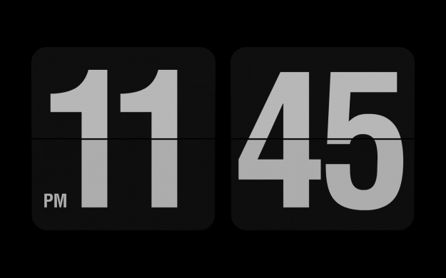 To download either the Mac or Windows version of the flip clock by Fliqlo … click here