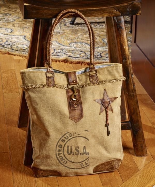 Usa Stamped Canvas Bag Canvas Handbags Purses Bags Bags