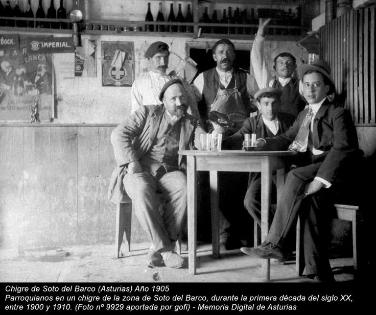 Chigre de Soto del Barco (Asturias) Año 1905 - Memoria Digital de Asturias