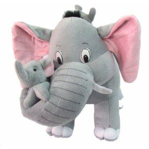Tickles Mother Elephant with 2 Babies Stuffed Soft Plush Toy Kids Birthday