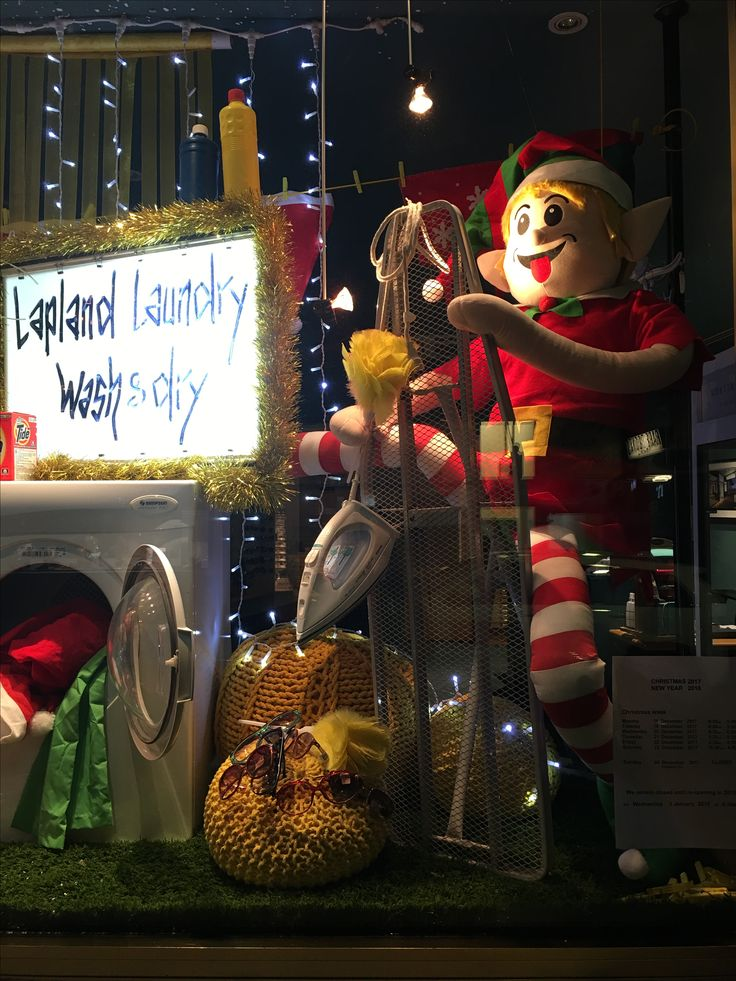 """MORTIMER HIRST OPTOMETRIST, High Street, Auckland CBD, New Zealand, """"24 Hour Lapland Laundry Wash & Dry Now Open"""", creative by Ton van der Veer"""