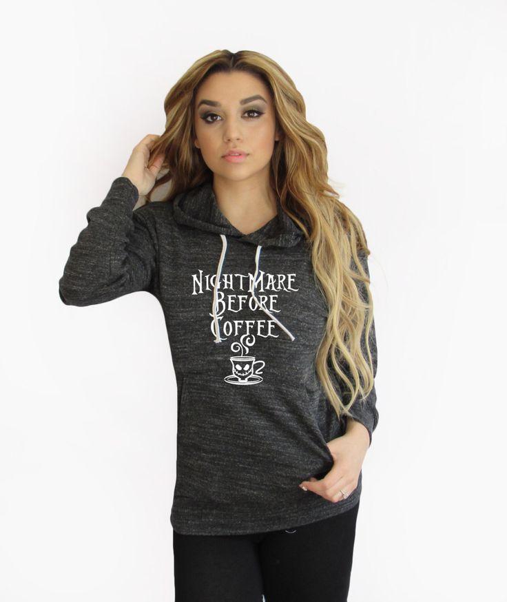 Nightmare Before Coffe hoodie. Halloween sweater. nightmare before christmas hoodie. Made by ThinkElite1. by THINKELITE1 on Etsy