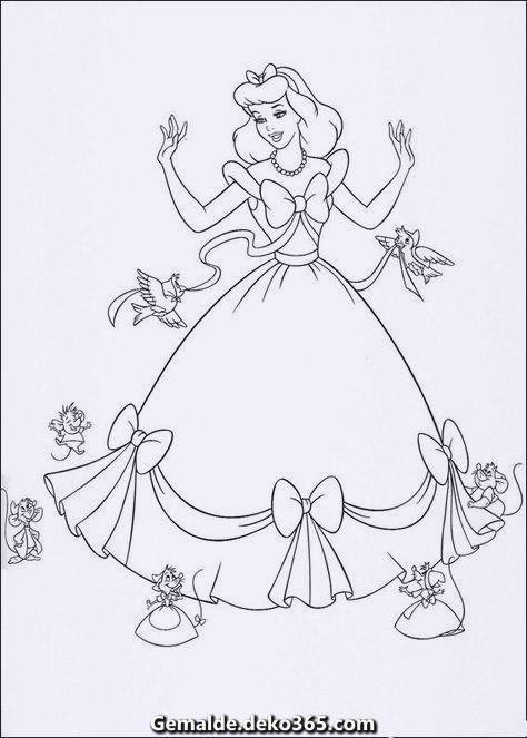 Spektakular Malvorlagen Disney Princess Ausmalbilder Cinderella Coloring Pages Disney Princess Coloring Pages Princess Coloring Pages