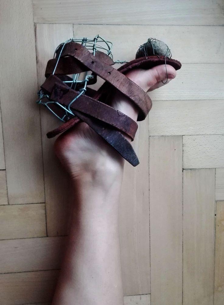 conceptual shoe / stressed depressed and bad dressed  Shoedesign  by Hel Kolnikova