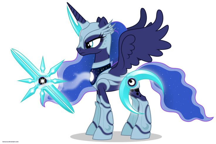 Luna in armor by ~Larsurus on deviantART