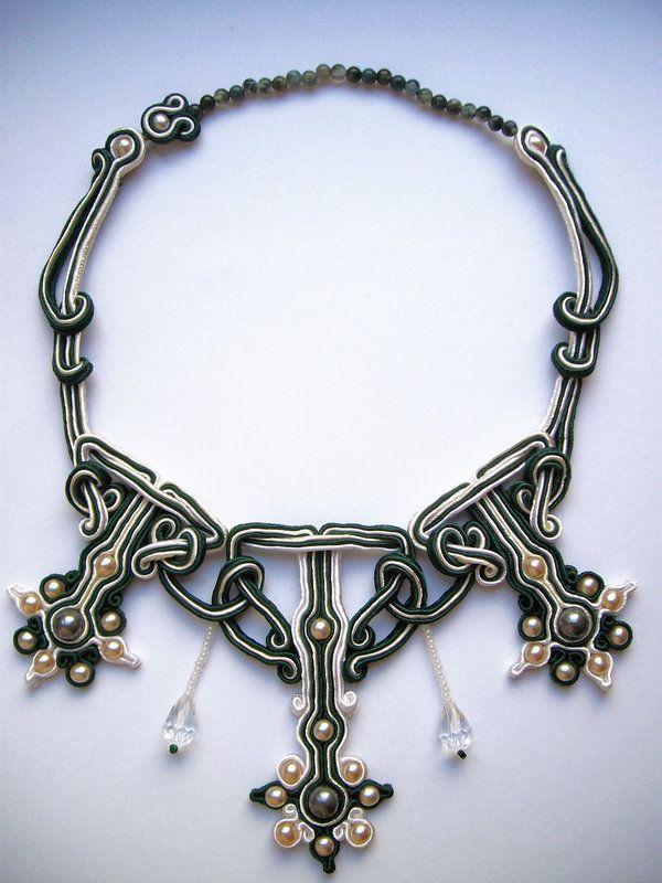 http://www.deviantart.com/art/Celtic-twist-soutache-necklace-429723797