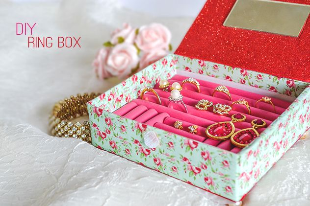 DIY Ring Box // This has got to be one of the cleverest DIY jewelry boxes I have ever seen!