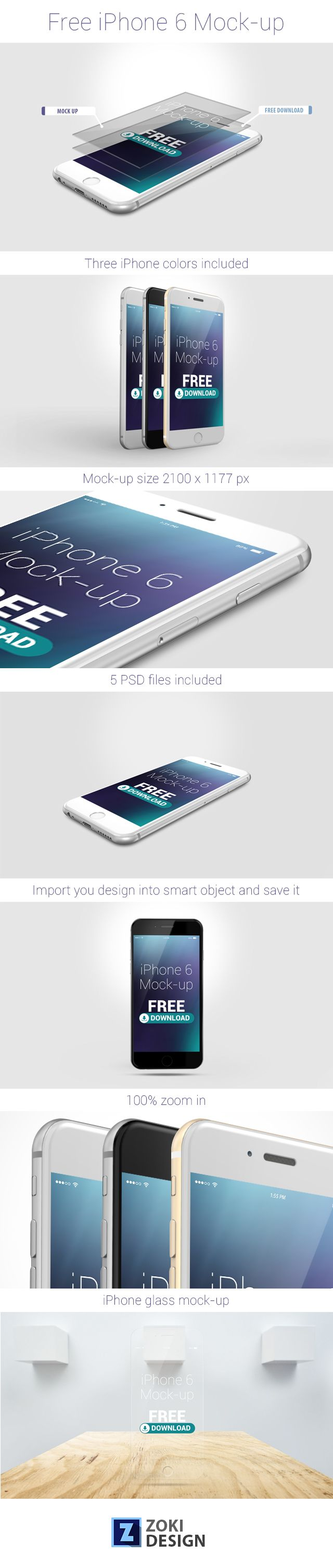 Free iPhone 6 Mock-Up on Behance
