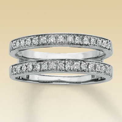 Hmm, maybe double wedding bands? One for the top and bottom!