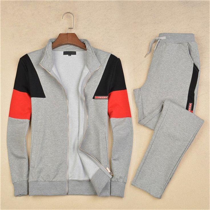 New Arrival Spring/Autumn/Winter recreational cotton mens sports suit men sports suit(coat+pants) tracksuit men tracksuit DA3030