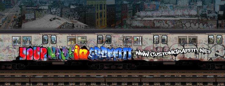 Photoshop backdrop. Made from scratch, fully layered.  If you want your name in graffiti on the train or on anything else, check my website at www.customgraffiti.net