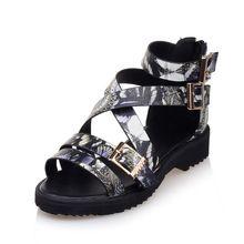 Stile europeo strada estate sandali di modo di colore abbinabili belt buckle decorazione donne scarpe tacco basso grigio viola giallo(China (Mainland))