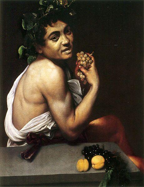 Caravaggio (1573–1610), Self Portrait as the sick Bacchus circa 1593-1594, Galleria Borghese