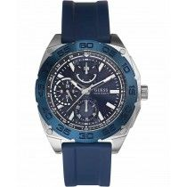GUESS Multifunction Blue Rubber Strap W0486G1