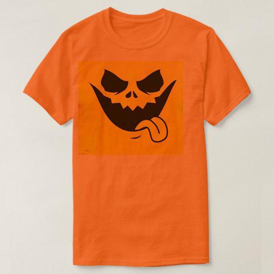Evil Smiling Pumpkin Face Custom Shirts