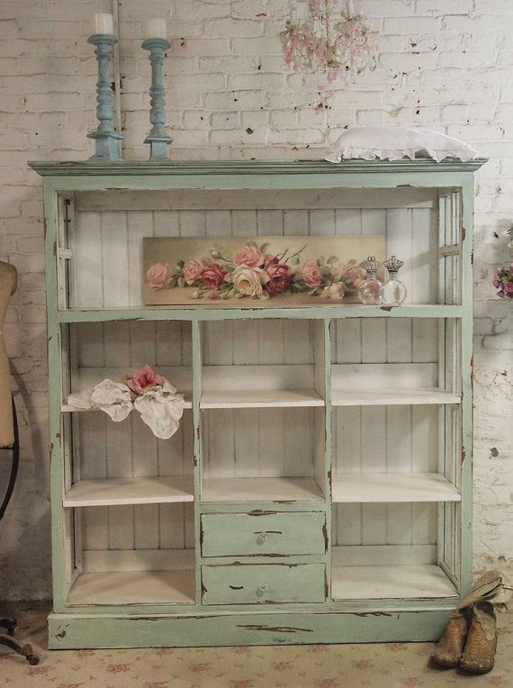 Painted Cottage Chic Shabby Chateau Farmhouse by paintedcottages, $995.00  I would love something like this to hold outdoor dishes, glasses, etc.