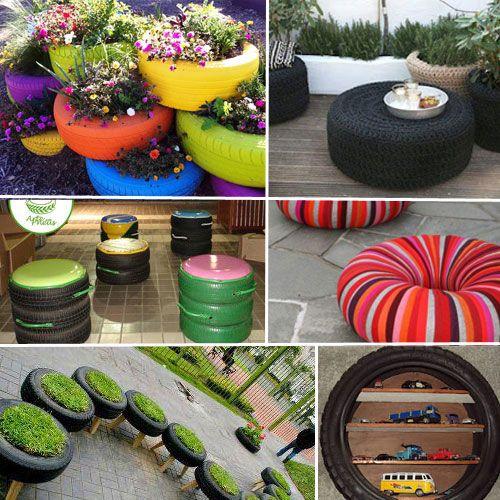 Transforme o pneu em decoração « Construlopes e Gimenez
