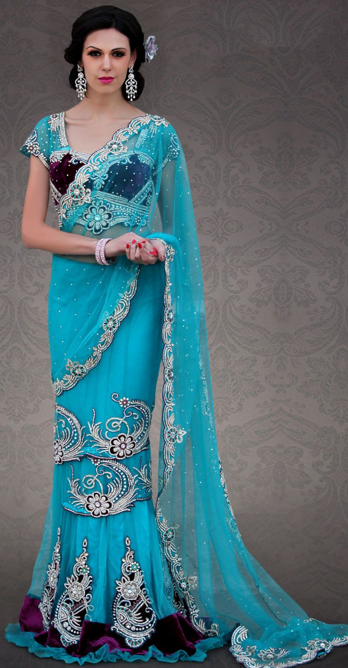 122 best lehenga style saree images on Pinterest | Lehenga style ...