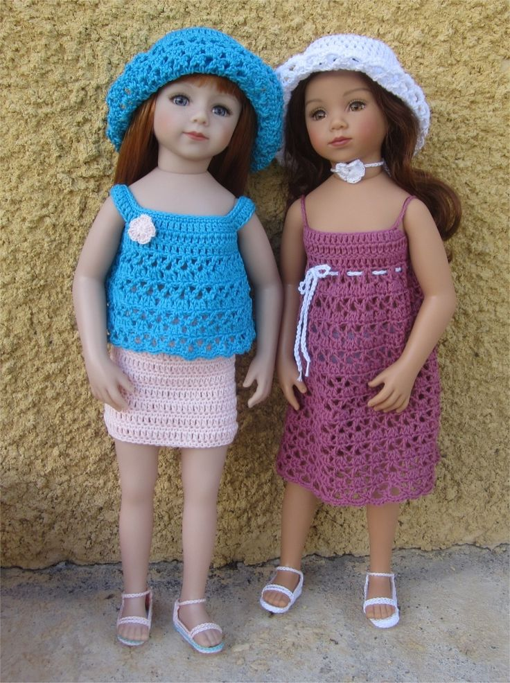 23- FICHE PATRON ensemble été fleuri pour poupée Maru and Friends : Jeux, jouets par atelier-crochet