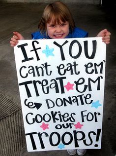 scrapbook girls scout cookie booth - Google Search: