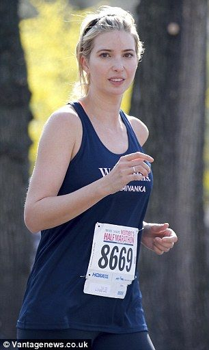 Running: Ivanka Trump took part in a half-marathon for women in New York at the weekend