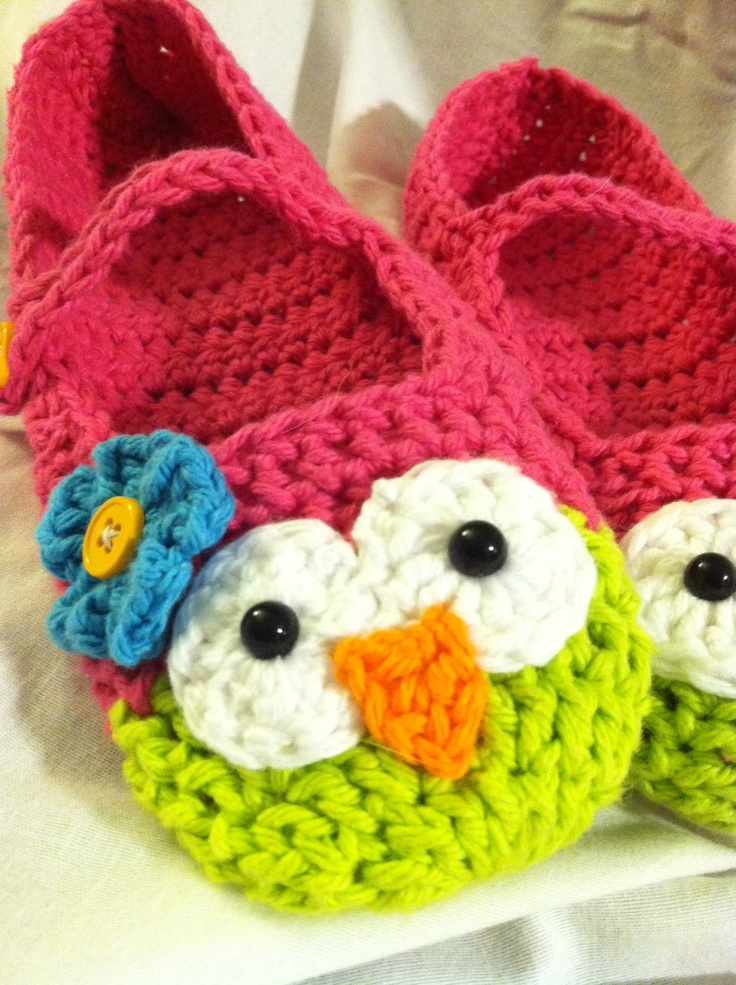 Owl Slippers via Etsy.
