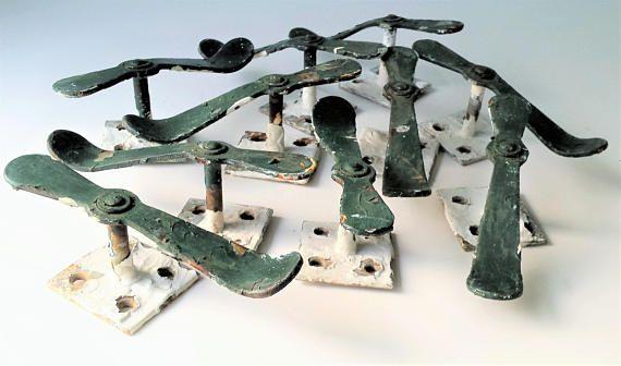 Vintage Shutter Dogs Window Hardware Salvaged Metal Brackets