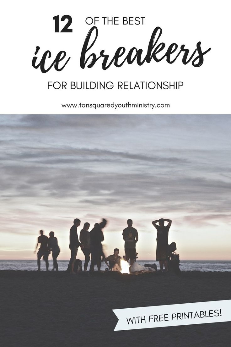 12 great ice breakers for building relationships when you're in Youth Ministry. Tried and tested with free printables! Tansquared Youth Ministry