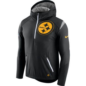 Nike Pittsburgh Steelers Black Sideline Fly Rush Half-Zip Pullover Jacket #steelers #pittsburgh #nfl