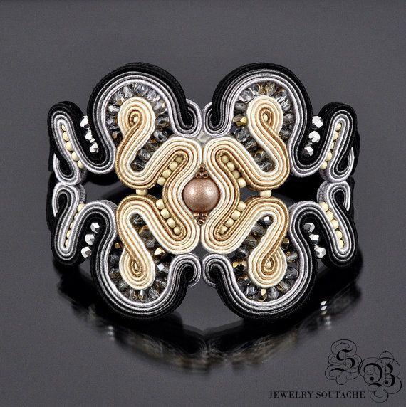 Soutache Bracelet,Soutache Jewelry, Bracelet gift, Subtle jewelry, Elegant…