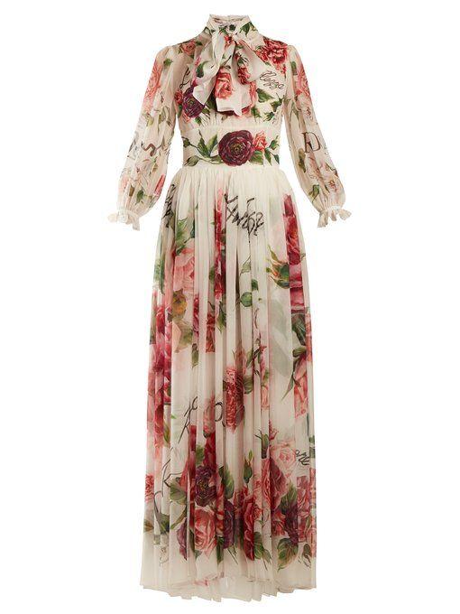 38f931e9888bb0b Dolce & Gabbana Пион и розовое шифоновое платье | DOLCE&GABBANA in ...