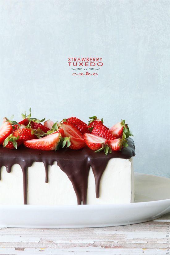 Strawberry Tuxedo Cake | Bakers Royale