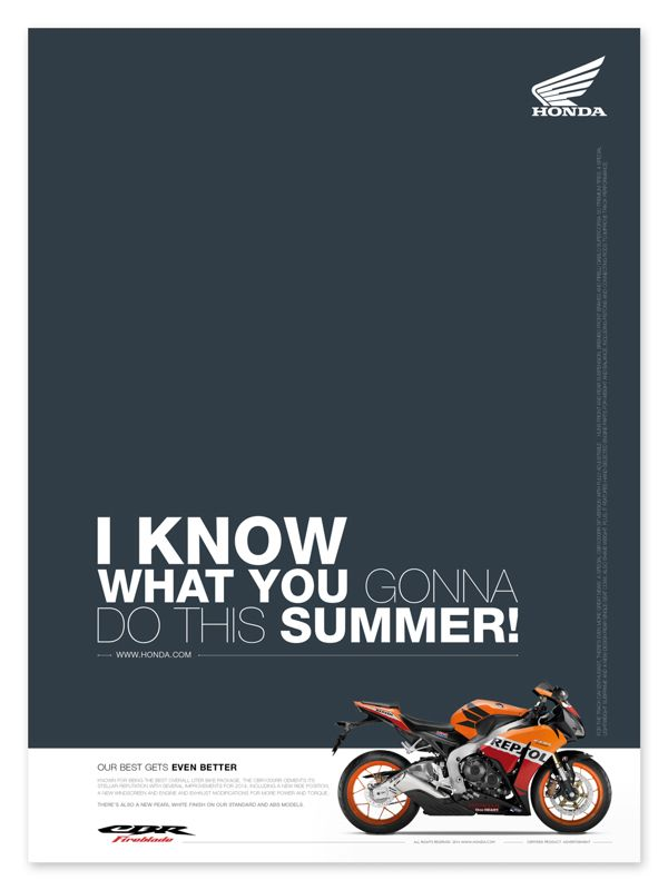 Honda Motorcycle 2014 (Print Design) by Maxim Tyutmanov, via Behance