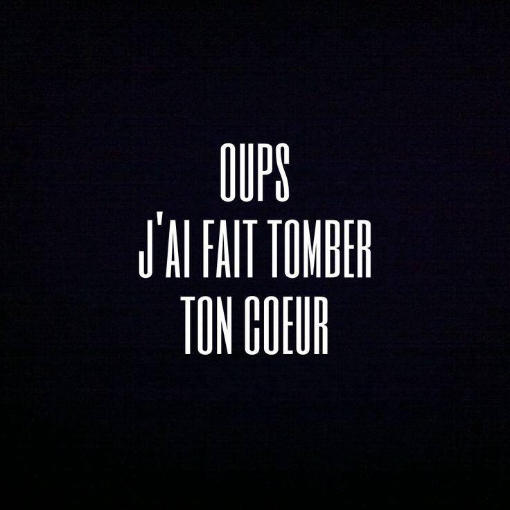 Oups j'ai fait tomber ton #coeur. #amour #bonjourmademoisellec