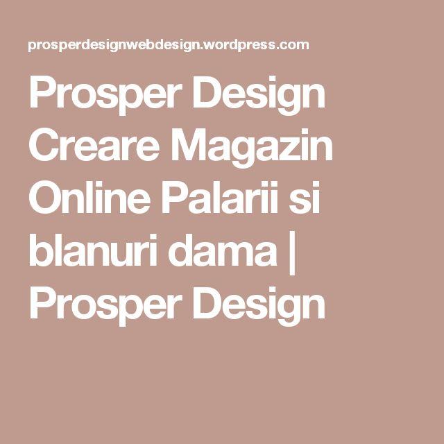Prosper Design Creare Magazin Online Palarii si blanuri dama | Prosper Design