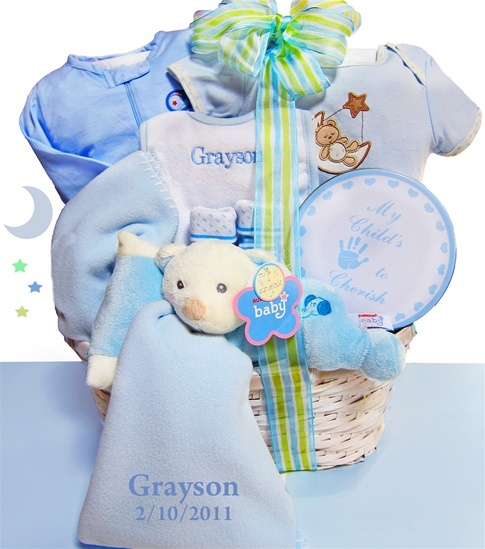 79 best baby shower gift baskets images on pinterest baby nap time boy bear baby basket personalization avail negle Choice Image