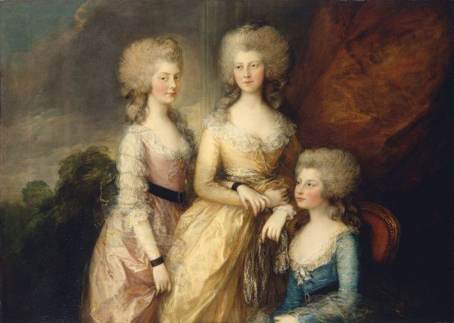 Three eldest princesses by Thomas Gainsborough. Royal Collection Trust