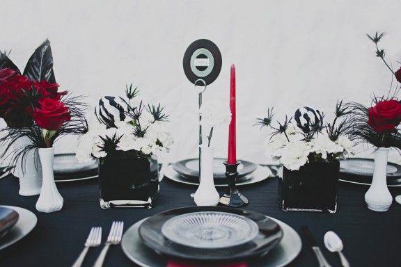 vintage vinyl used in the wedding decor for the rock n. Black Bedroom Furniture Sets. Home Design Ideas