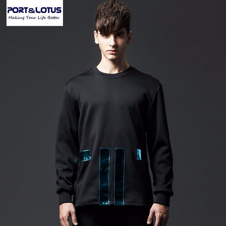 Port&Lotus Men Hoodies Brand New Arriving Fashion Long Sleeve Patchwork Casual 053 Mens Clothing wholesale #Affiliate